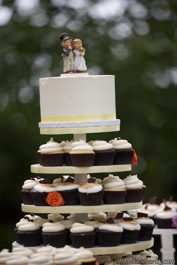cocoa  fig Rustic Minnesota Wedding Cupcakes  Cake  Jessie and Ricky