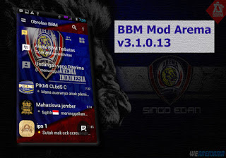 BBM MOD Arema Cronus v3.1.0.13 With Change Background Terbaru