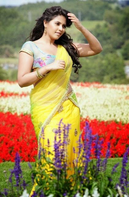 Anjali Yellow Half Saree
