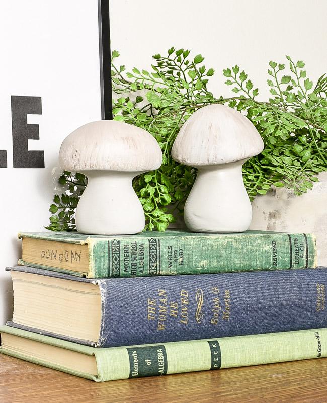 Concrete inspired ceramic mushrooms