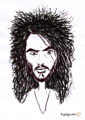 Russell Brand caricature by UK caricaturist Ingrid Sylvestre Celebrity caricatures by UK caricaturist Ingrid Sylvestre North East Entertainment Wedding Entertainment ideas Christmas Party Entertainment Northeast Corporate Events Entertainment ideas Newcastle upon Tyne County Durham Sunderland Middlesbrough Teesside Darlington Northumberland Yorkshire UK Entertainment ideas for Weddings Parties Office Parties Proms Launches Conferences Corporate Events.