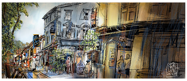Sketch of Bali Lane