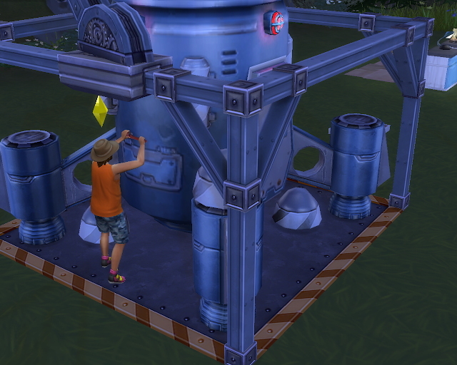 The sims 4 | Constructing a Rocket