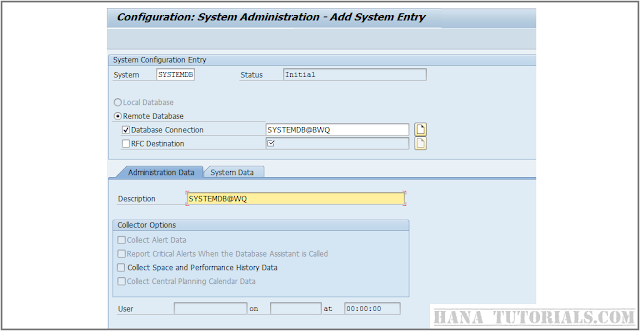 SAP DBACOKPIT Adding SYSTEMDB for Multi tenant HANA