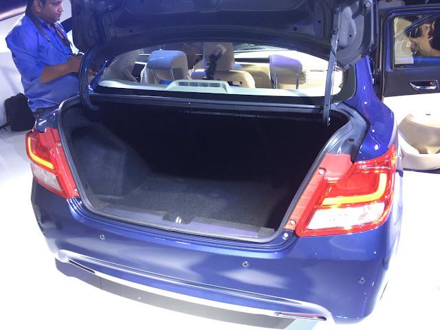 New 2017 Maruti Suzuki Dzire boot space