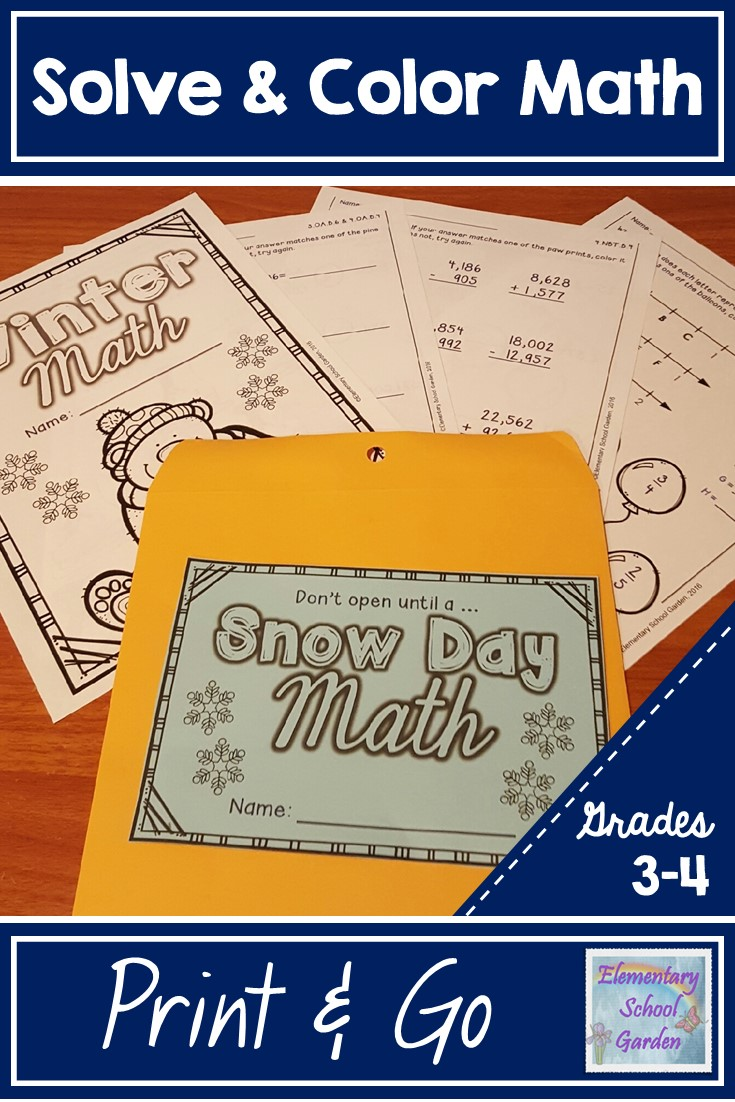Elementary School Garden: Take Academic Advantage of a Snow Day! [ 1102 x 735 Pixel ]