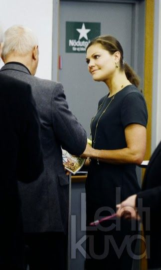 Princess Victoria of sweden at a seminar for Crown Princess Margareta's Veteran Reserve Foundation