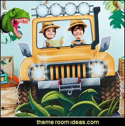 Jungle Room Decor - Jeep Cardboard Standup