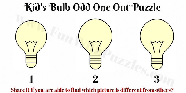 Can you find different Bulb Picture puzzle?