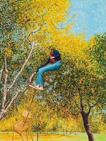 Monica Rohan - So it goes, 2018, oil on board | creative paintings, cool stuff, pictures | obras de arte contemporaneo, cuadros, imagenes de pinturas bonitas chidas | peintures | pitturas