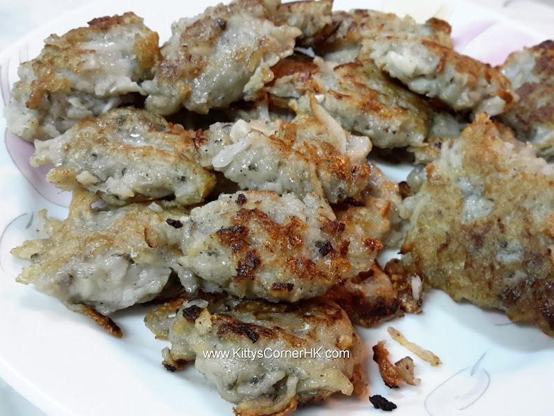 Grated Lotus Root Fish Patties 生磨蓮藕香魚餅 自家食譜 home cooking recipes