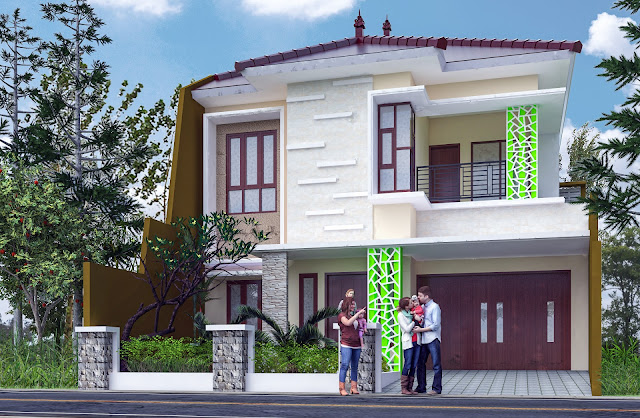 Rumah Asri 2 Lantai di Karangploso Malang