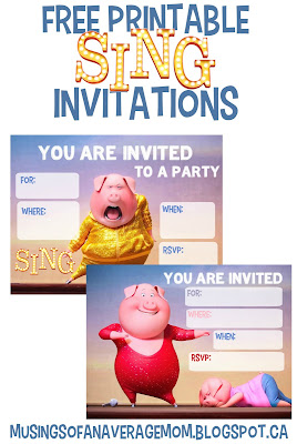 Sing Movie Invitations
