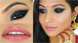 Green Party Makeup | GRWM – Diwali Special | Indian Makeup
