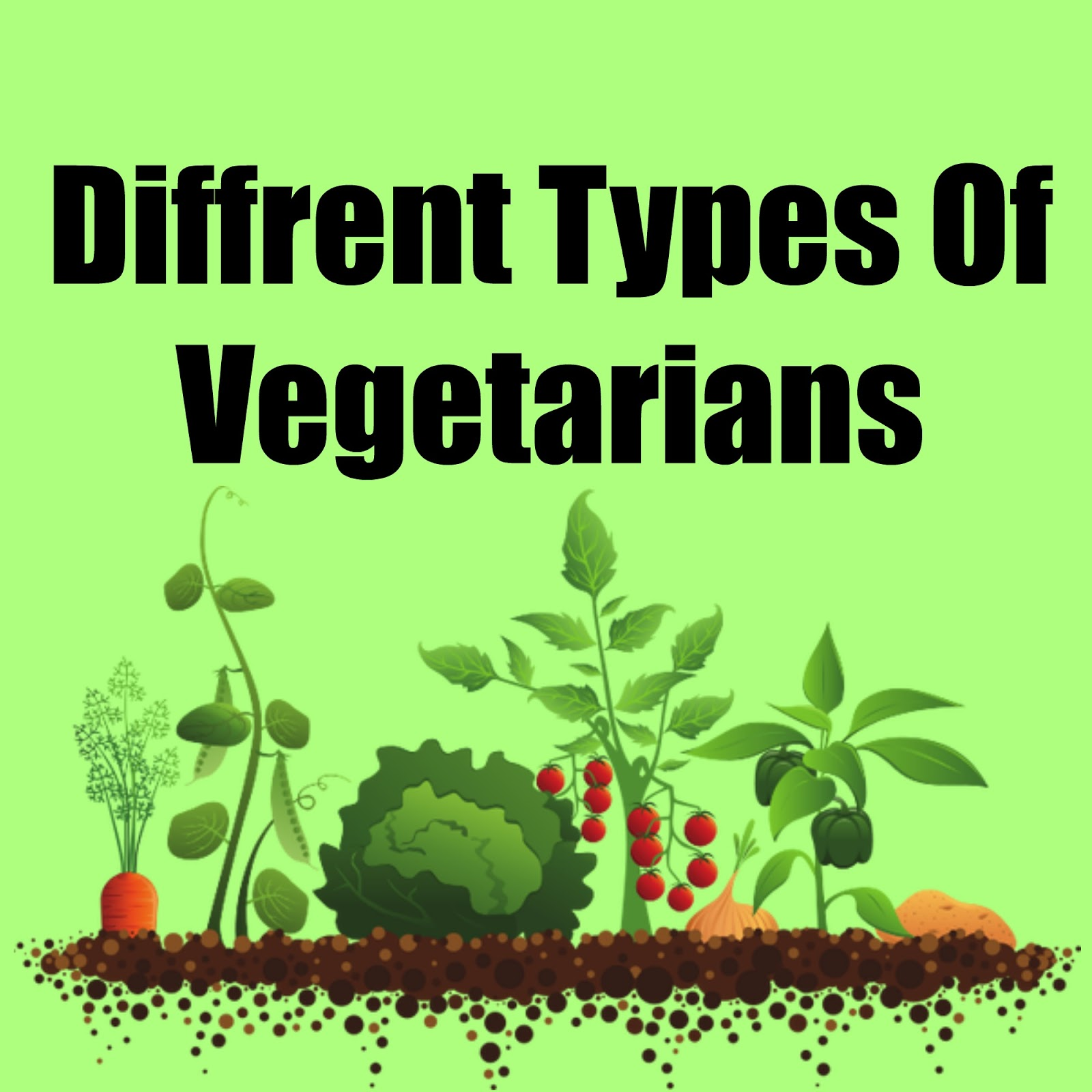 the differences between different types of vegetarians Clearly the definition of a vegetarian does not stop at non consumption of meat, instead it includes four different types of vegetarians - lacto ovo vegetarian: it refers to a diet that excludes meat or flesh but may include eggs and milk (dairy products.