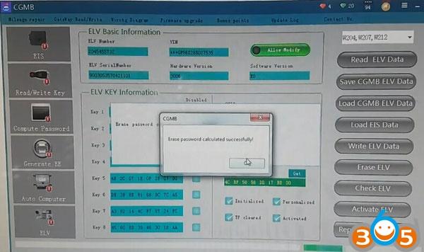 cgdi-mb-reset-w204-used-elv-5