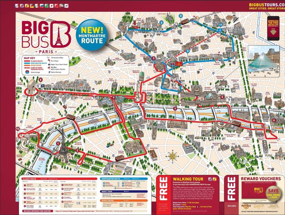 Big Bus Paris Map