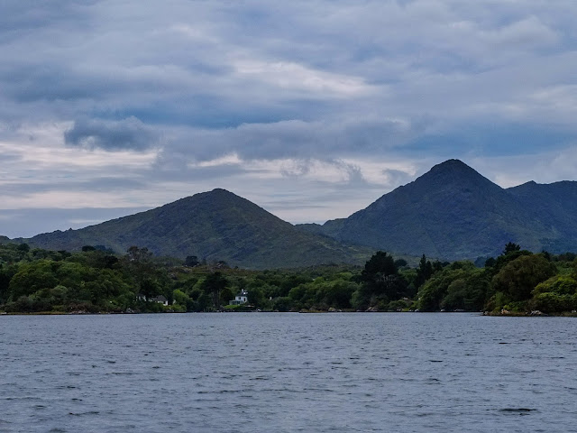 View of the Caha Mountains from a boat in Bantry Bay, Co.Cork.