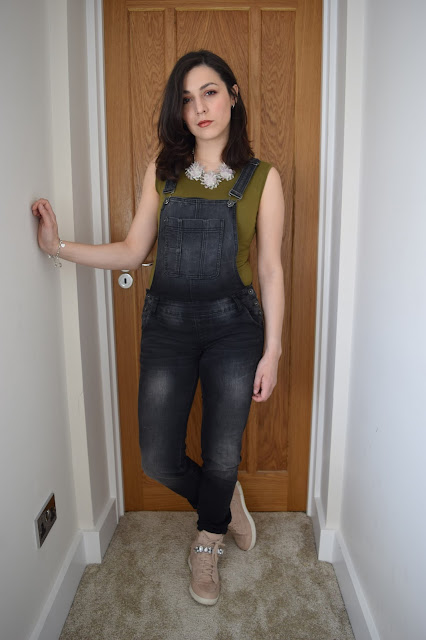 What Cat Wore | Denim Dungarees -  Outfit Shot 1