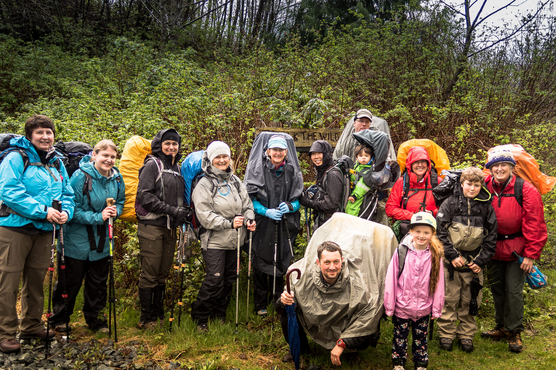 Island Mountain Rambers hike the Wild Side Trail, Flores Islaned