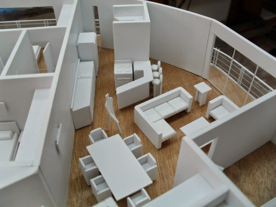 Arquitectura 6 materiales b sicos para maquetas la upea for Casa minimalista maqueta