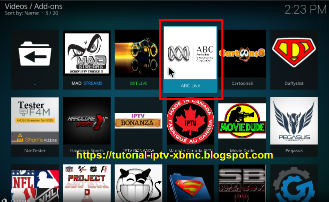 how to add abc live on kodi