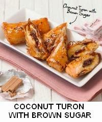 Coconut Turon with Brown Sugar