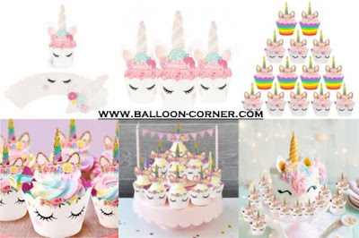 Kertas Cupcake Unicorn