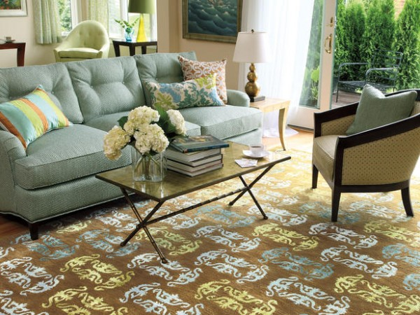Tapete Rustico Para Sala De Estar ~  Parede Tapetes  12 opções diferentes para decorar a sala de estar