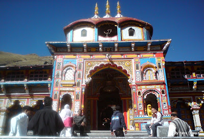 Badrinath temple, one of the divya desams in the Garhwal Himalyas