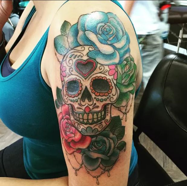 180 Skull Tattoos For Girls 2019 Meaningful Designs With