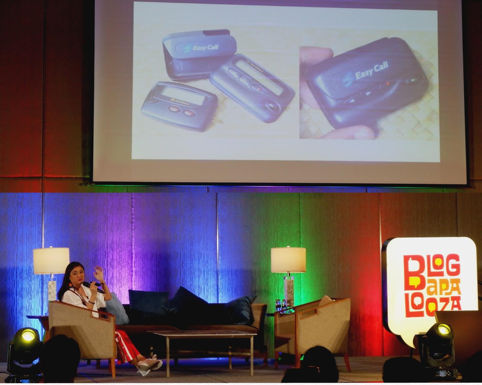 christine babao having a talk at Blogapalooza 2018