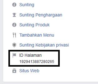 Cara Mengetahui ID Halaman Fanspage Facebook