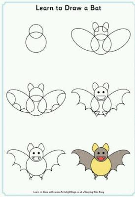 Cara menggambar hewan keleawar