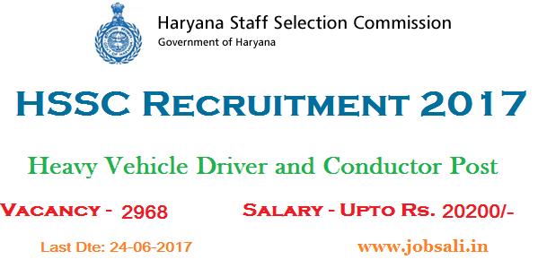 Haryana Staff Selection Commission, Driving Jobs, Haryana Roadways Vacancy