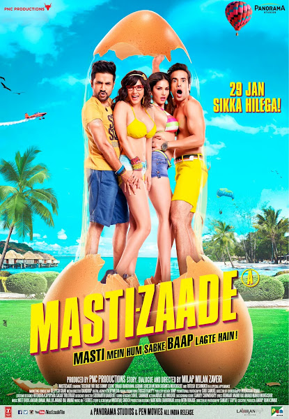 Poster of Mastizaade 2016 720p Hindi HDRip Full Movie Download