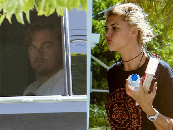 The paparazzi are on the alert: Leonardo DiCaprio and Kelly Rohrbach in Los Angeles