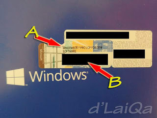 versi Windows dan product key