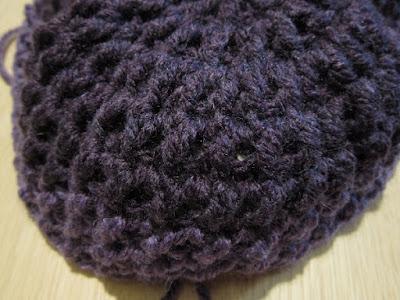 crochet, hat, Caron Cakes, double crochet cross stitch