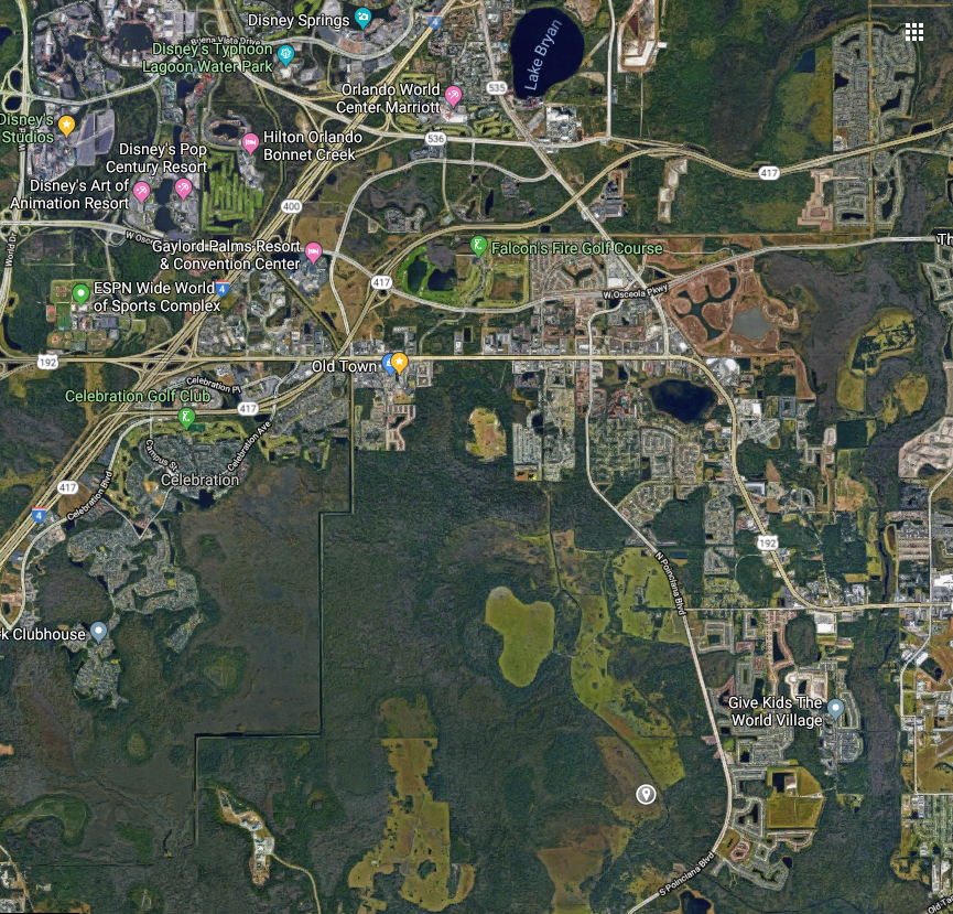 Give Kids The World Map.Disney Buys More Land South Of Disney World Amusement Insider