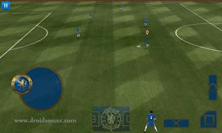 Teammangement, Buttons, HUD radar, Shirtnumber (Chelsea) for DLS Android