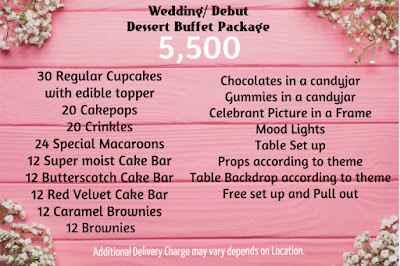Wedding Dessert buffet Package 5,500