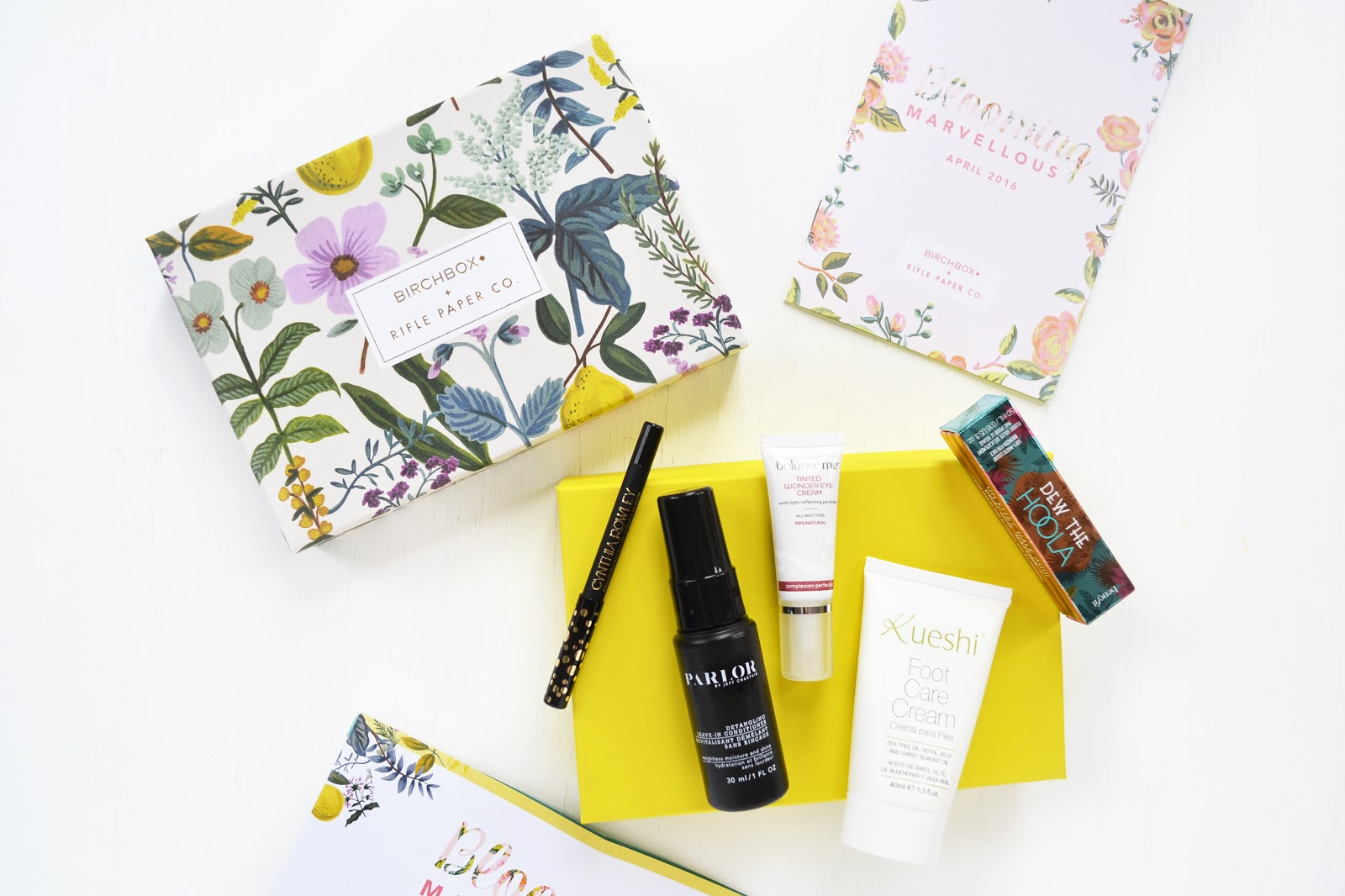 birchbox april 2016, birchbox and rifle paper co