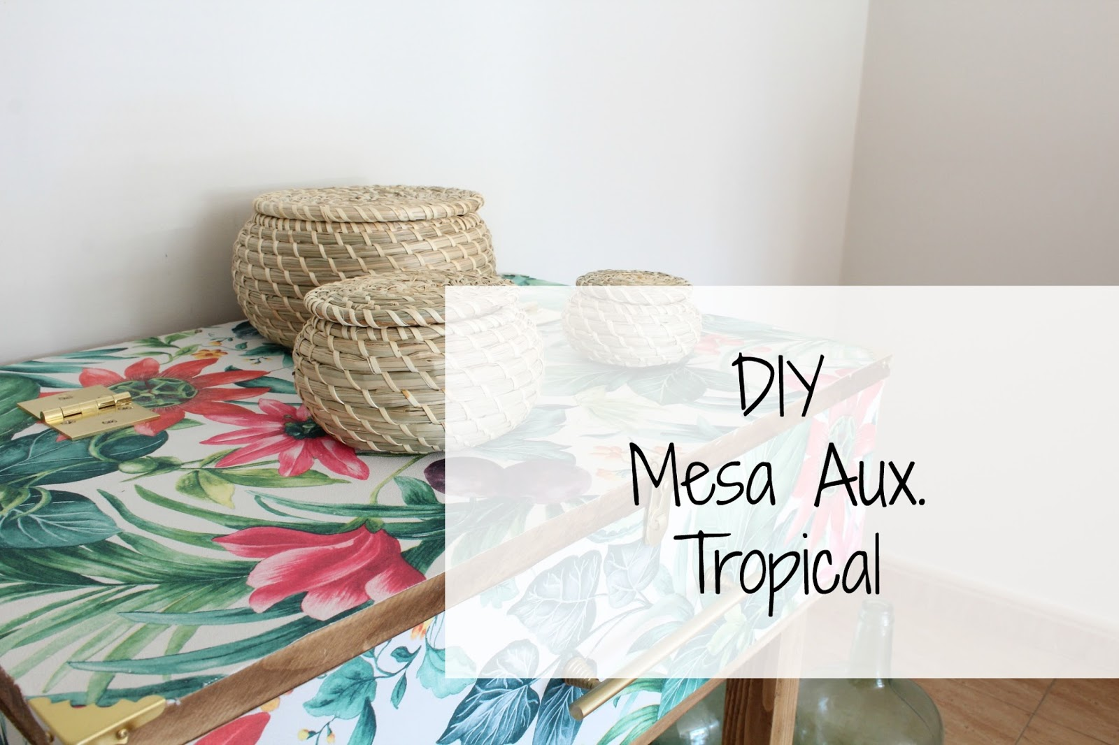 Decoracion Mesa Auxiliar Diy Mesa Auxiliar Tropical Decoracion Red