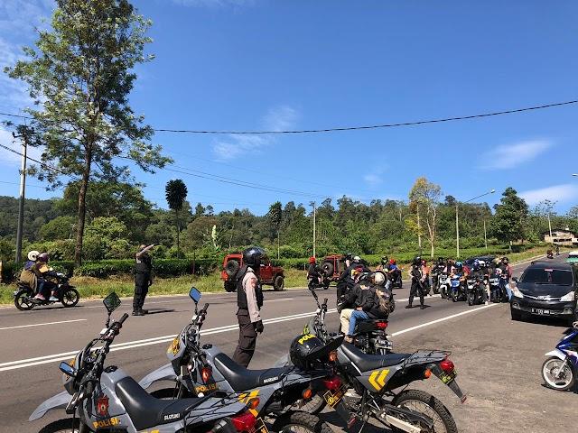 Patroli Polres Subang Antisipasi Balap Liar dan Cegah Covid-19