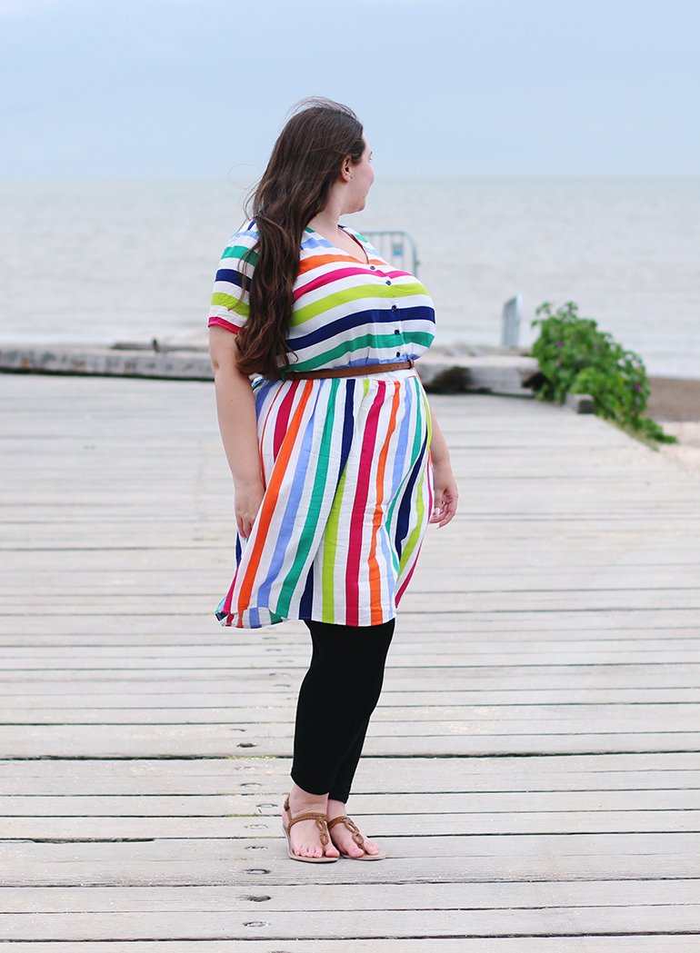 Sainsbury's TU rainbow stripe dress