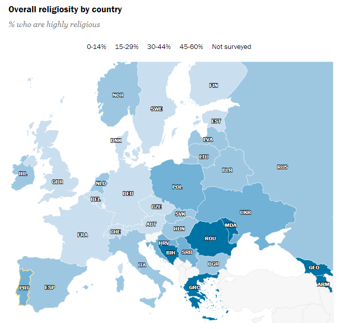 Interactive Map Of Religious Belief In Europe