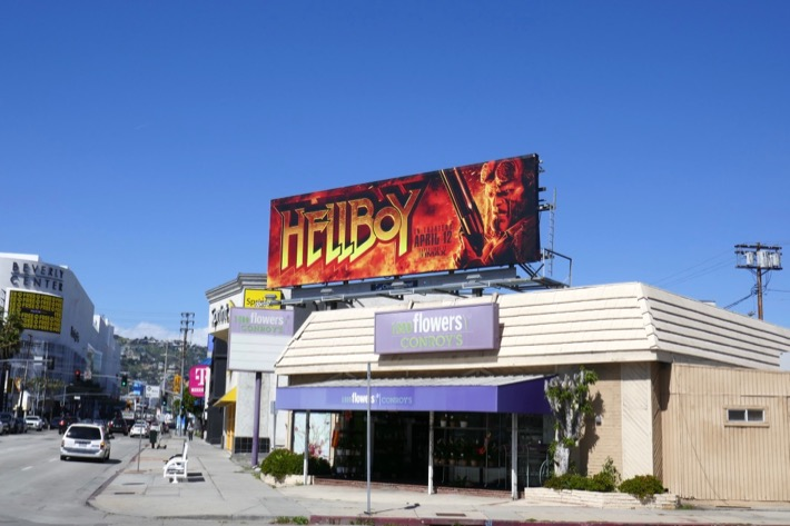 Hellboy film billboard