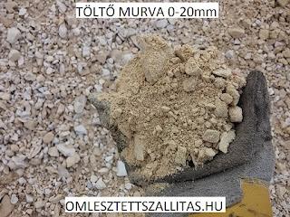 Poros murva szállítás ár, töltőmurva 0-20 mm murva, útépítésimurva.