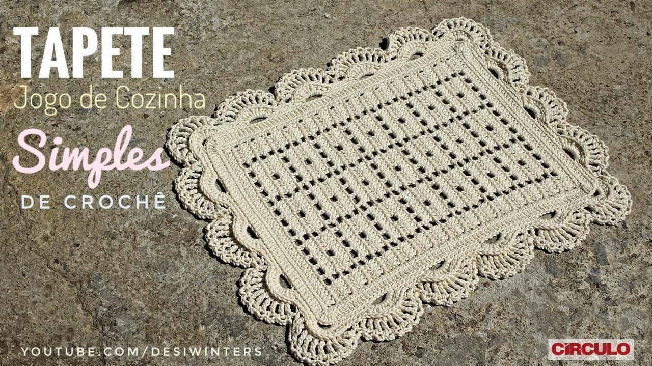 Tapete Simples De Croch Com Pap Jogo De Cozinha De Croch  -> Fotos De Tapete De Croche